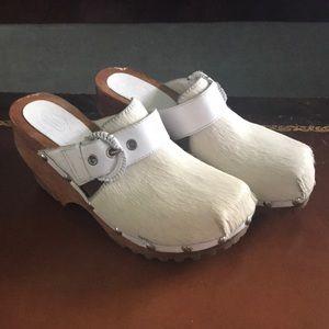 Vintage Calfskin Clogs